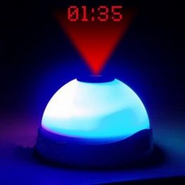 Clock Alarm with Proyector and Led Light