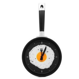 Pan with fried egg Wall Clock