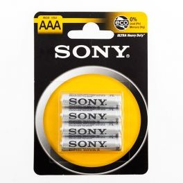 Sony Ultra AAA R03 1.5V Zinc-Carbon Batteries (pack of 4)